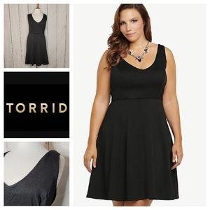 Torrid Black Textured Skater Dress NWT